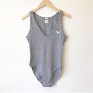 Victoria's Secret PINK Gray Bodysuit Size Small